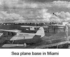 Sea plane base in Miami