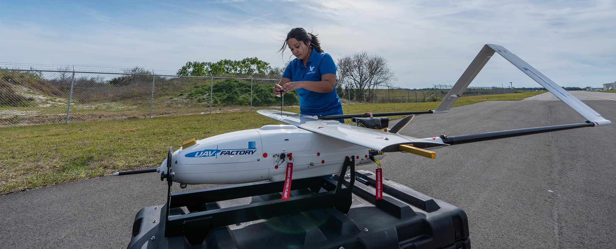 Samantha Villagran Assembles the Penguin UAV
