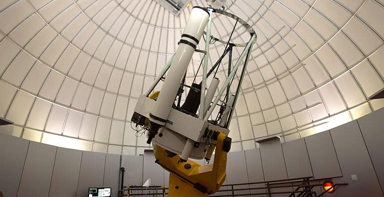 Powerful telescope at Embry-Riddle Daytona.