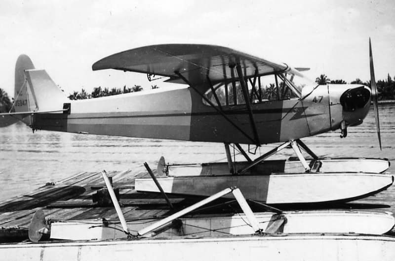 Piper J3 Cub Seaplane with tail number NC35947